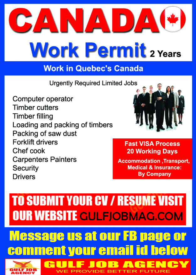2 Years Work Permit Visa For Canada Apply Now Gulf Job Mag