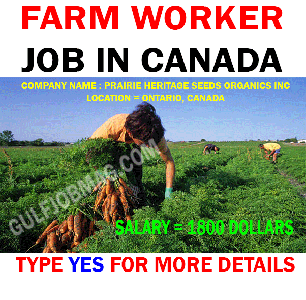 Farm Worker urgently hiring for Canada with excellent salary package