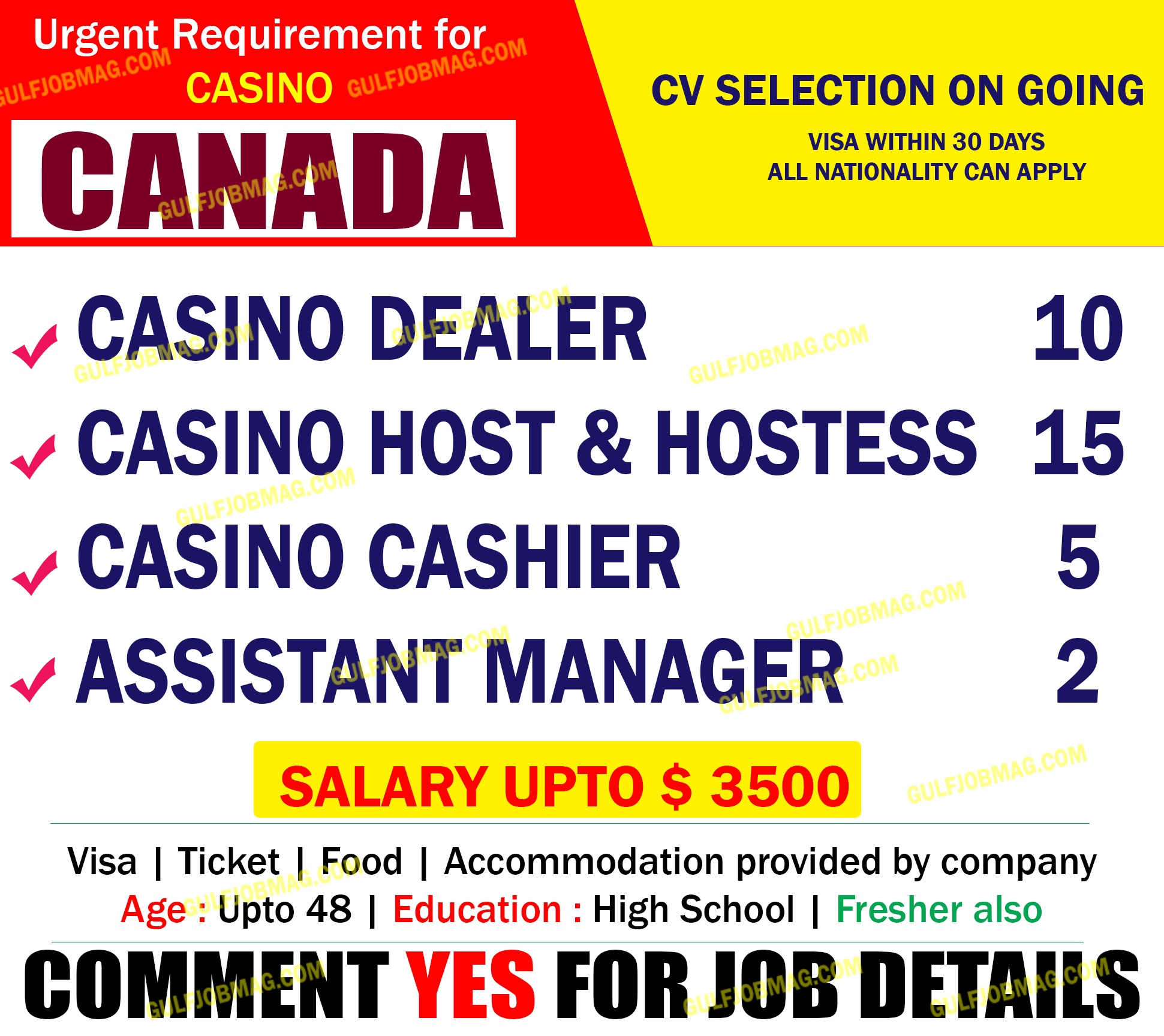 Jobs casino canada lost a lot of money gambling