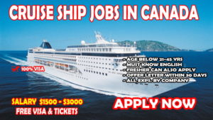Cruise Ship job in CANADA - Gulf Job Mag